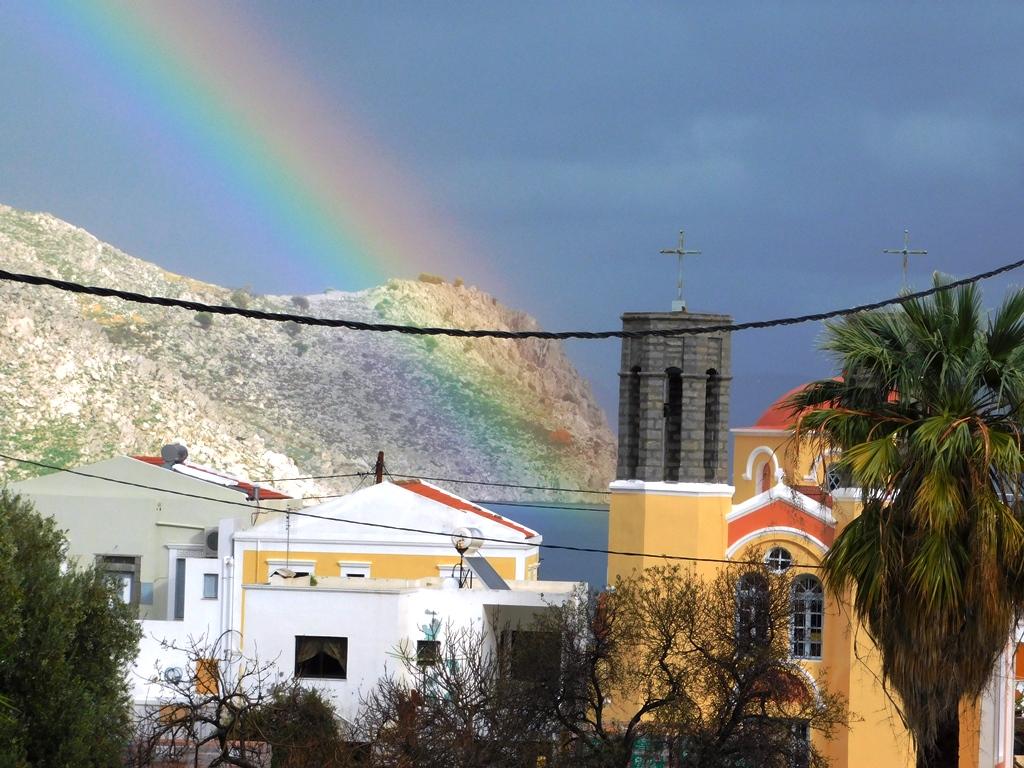 rainbow pedi with st george church