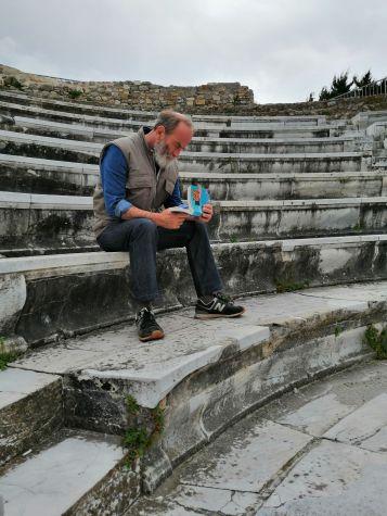 Nicholas in Kos amphitheatre